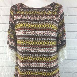 Win Win Tunic Aztec Print Shirt Size S-M